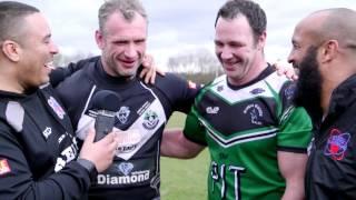Jamie Peacock and Adrian Morley speak after their last ever game