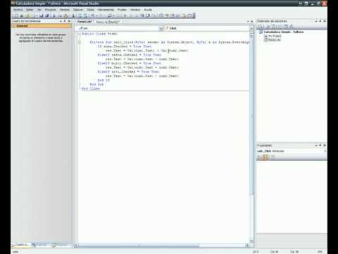Microsoft Visual Studio 2008 Tutorial Botones 3