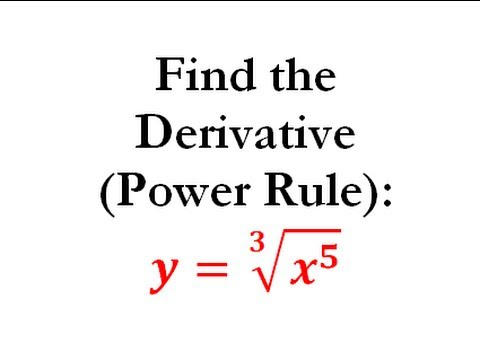 Power Rule of Derivatives (Calculus) - Worked Example #3