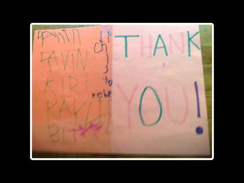 Evergreen Kids Send Us Thank You Cards Video