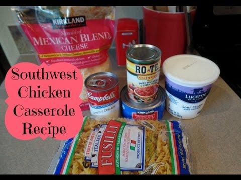 Easy Southwest Chicken Casserole Recipe