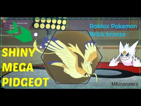 Roblox: Pokemon Brick Bronze: SHINY Mega Pidgeot battling!