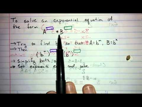 6.1.4 - Solving Exponential Equations with Related Bases
