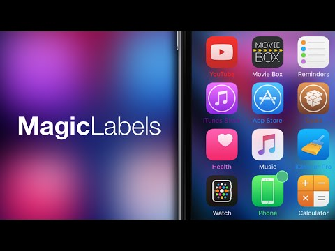 iOS 9 Cydia Tweaks: MagicLabels - Fully Customize Icon Label Colors