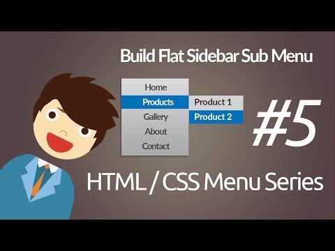 HTML & CSS :Build Simple Side Bar Sub Menu
