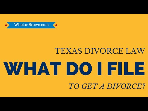 What Do I Have To Do To Get A Texas Divorce?