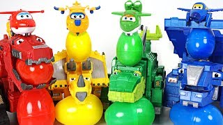 Flying dinosaurs kidnapped Super Wings! Dinotrux! Rescue a friends and surprise eggs! - DuDuPopTOY
