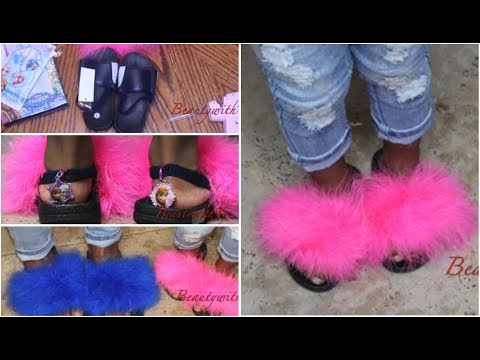 Summer 17 DIY Fur flops| Kids and Adults