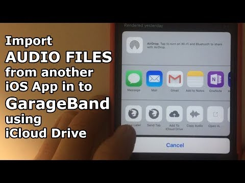 Import Audio Files from another iOS (iPhone/iPad) App in to GarageBand using iCloud Drive -Quick Tip