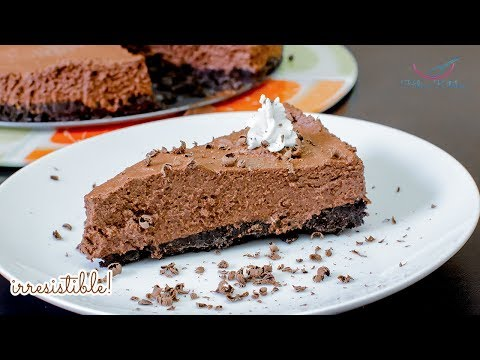 How To Make CHOCOLATE MOUSSE CAKE Without Bake or Without Oven By Hiba's Kitchen