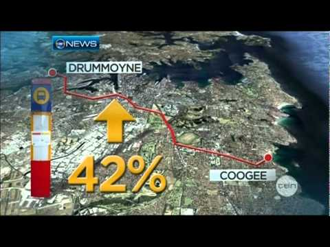 Ten News Sydney - Commuters love red Metro Buses (28/5/2012)