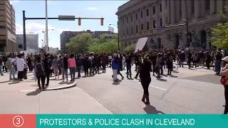 WATCH | Demonstrators gather in downtown Cleveland for rally protesting death of George Floyd