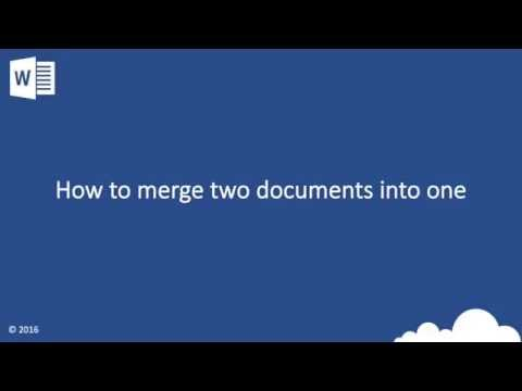 Hint and Tip: How to merge two documents into one with word