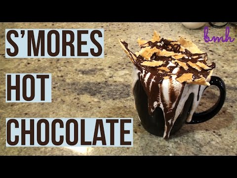 S'mores Hot Chocolate | Bake Me Happy