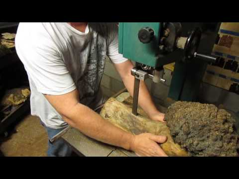 Resawing a Maple Burl