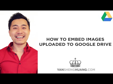 How to Embed Images Uploaded to Google Drive