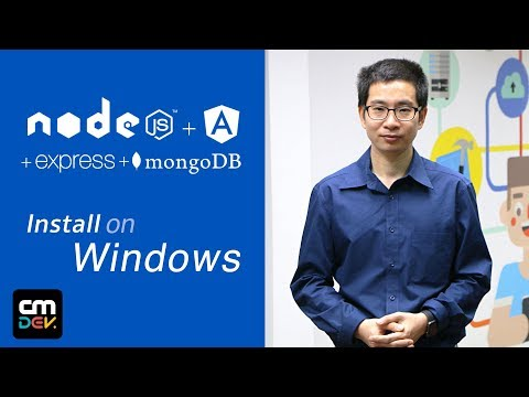 (Windows Version) Install Tools for (NodeJS + Angular + Express + MongoDB)