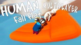 EPIC RAFT RIDING ADVENTURE! - Human Fall Flat Multiplayer Gameplay