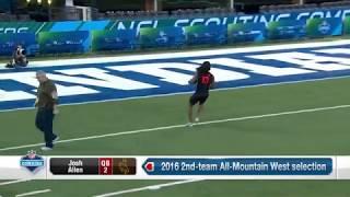 Josh Allen throws huge passes | 2018 NFL Combine