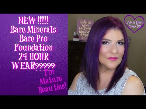 Bare Minerals Bare Pro Foundation First Impression, Demo and Review|Full Coverage on Mature Skin
