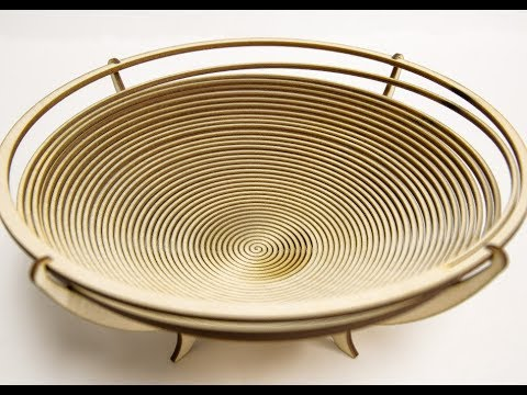 Laser Cut Wooden (Birch) Bowl Decor - Free File