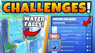 Download Fortnite WATERFALL LOCATIONS + *NEW* OVERTIME Challenges Guide! (Battle Royale Update) Video