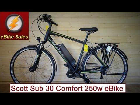 E Bike - Scott Sub 30 Comfort with a 250W Bafang Mid Drive