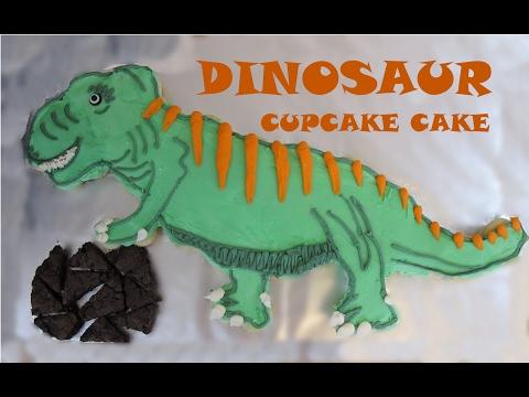 How To Make a DINOSAUR CUPCAKE CAKE | Pull-Apart Cupcake Cakes | Sweetwater Cakes
