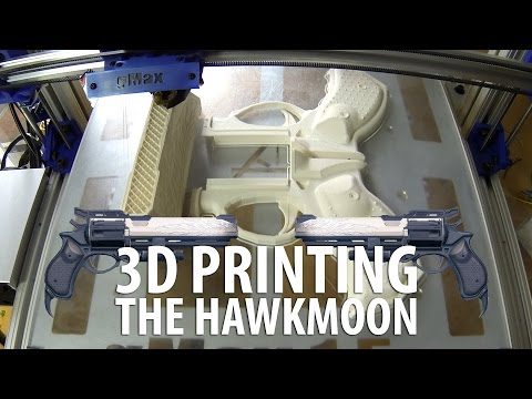 3D Printing the Hawkmoon Gun from Destiny Timelapse