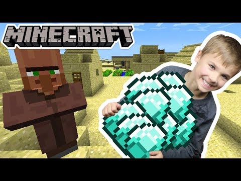 STEALING DIAMONDS FROM A VILLAGER in MINECRAFT SURVIVAL MODE