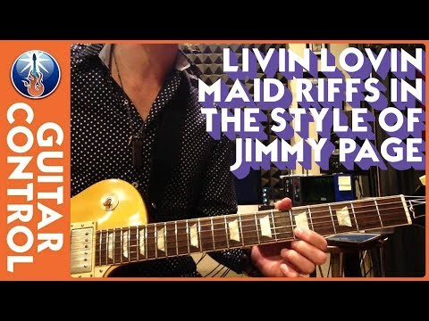 Livin Lovin Maid Riffs in the Style of Jimmy Page