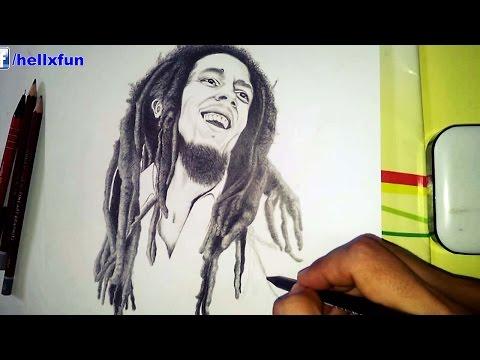 Bob Marley Drawing - speed drawing bob marley