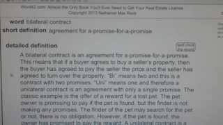 Bilateral Contract Ca Real Estate License Exam Top Pass Words Vocabub