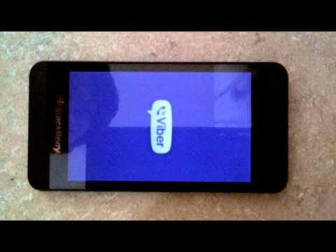 Viber Running on the BlackBerry Z10