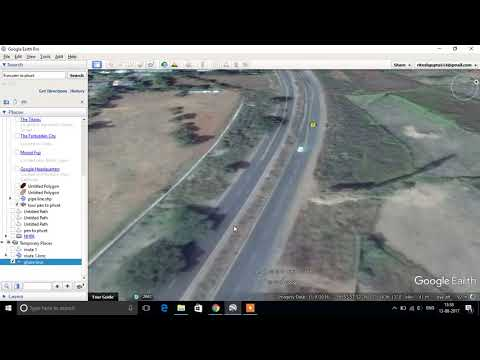 How to make Google Earth route using gis and remote sensing