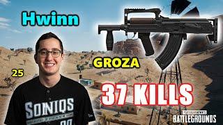 Soniqs Hwinn, Ashleykan & Myus - 37 KILLS - GROZA - SQUADS - PUBG