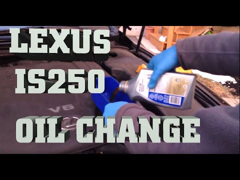 How to change Engine Oil in Lexus IS250 AWD 2006-2011 Oil Change with Mobile 1 Synthetic Oil