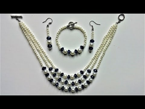 String beads and make a beautiful jewelry set in less than 15 mins.