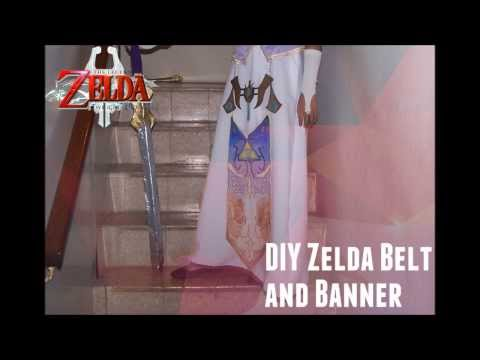 DIY Twilight Princess Zelda Cosplay: Belt and Banner Tutorial (And Fabric Painting Tips!)
