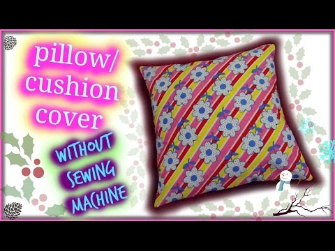 How to make envelope pillow cover | without sewing machine