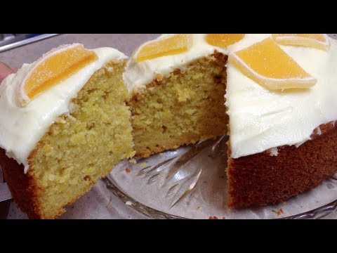 Whole Orange Cake with butter frosting and mini jaffa cake video thermochef recipe cheekyricho
