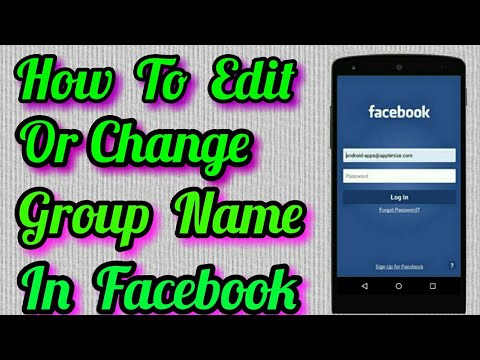 How To Edit Or Change Group Name on Facebook In Mobile