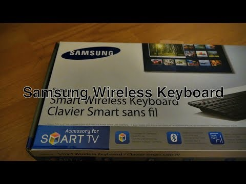 Samsung Wireless Keyboard Bluetooth Smart TV Remote Control w/ QWERTY & Trackpad Mouse For Mac / PC