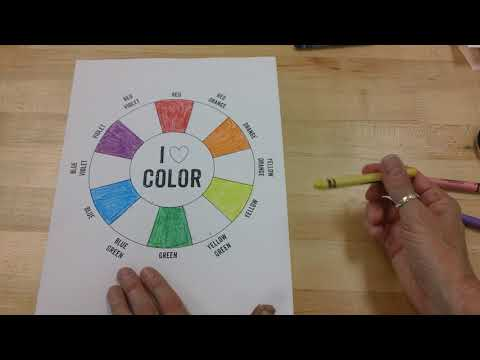 Color Wheel-Primary, Secondary and Tertiary Colors
