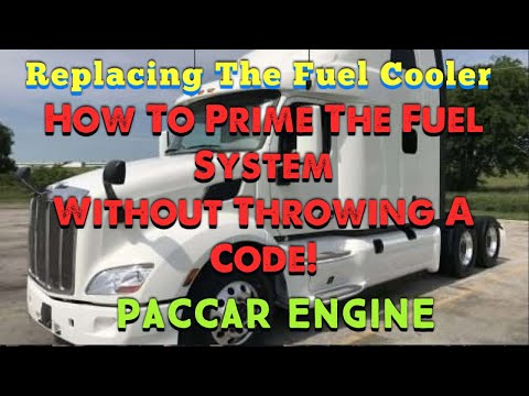 Paccar Fuel Cooler and How To Prime A Paccar Without Throwing A Code ! DIY Step By Step Guide How To