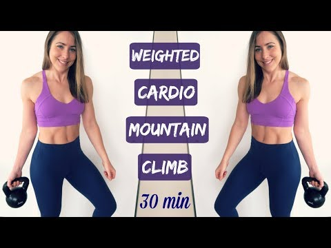 WEIGHTED HIIT Cardio // 30 Min MOUNTAIN CLIMB