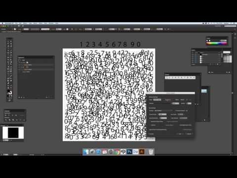 Creating a random number fill using Illustrator symbol plugin (Intermediate) tutorial