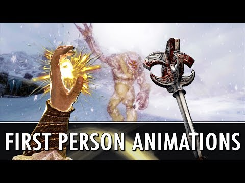 Skyrim Mods: Finally First Person Magic Animations + Enhanced Parrying