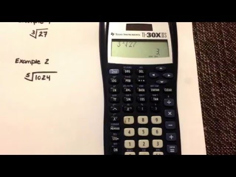 Calculating roots using your Texas Instruments TI-30IIS