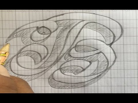 How to write letters B - fancy letters - style letters - draw letters